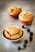 Homemade blueberry muffins (gluten-free, sugar-free and lactose-free)