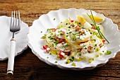 Potato salad with radishes