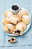Jagodzianki (blueberry buns, Poland)