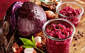 Spiced apple red cabbage