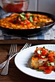 Chorizo and tomato frittata (Spain)