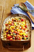 Gratinated vegetable risotto
