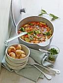 Spelt minestrone with bean dumplings