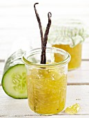 Cucumber preserve with vanilla