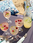 Sommerlimonade mit Zitronen- und Limettensaft fürs Strandpicknick
