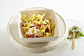 Gemelli with fennel, dried tomatoes and pine nuts