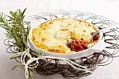 Polenta pasticciata (polenta bake with beef, Italy)