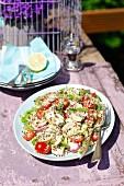 Quinoa salad with chicken breast
