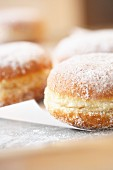 Doughnuts with icing sugar (close-up)