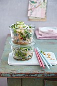 Glass noodle salad with green beans