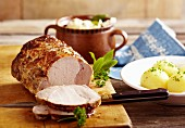 Roast Lusatia caraway pork with potato dumplings
