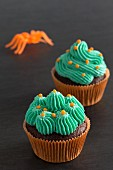 Chocolate cupcakes for Halloween