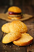 Vegan sweet potato burger buns