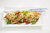 Oriental vegetable noodles (China)