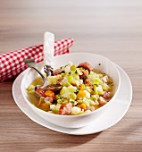 Luxembourg pea stew