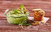 Feldsalat-Creme als Brotaufstrich