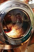 Must in a distilling kettle (Rochelt distillery, Fritzens, Tyrol, Austria)