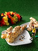 Pikante Party-Knusperstangen mit Käse und Speck