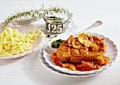 Ossobucco with tagliatelle