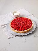 Strawberry tart with white chocolate cream