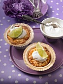 Lime muffins with whipped cream