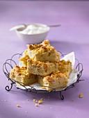 Crumble-style apple tart