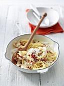 South Tyrolean spaghetti carbonara