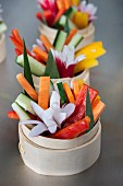 Vegetable sticks with radish flowers (Asia)