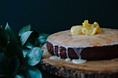 Zitronenkuchen mit Glasur