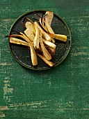Oven-baked parsnips