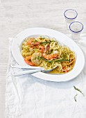 Linguine with fennel and prawns