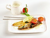 Char fillets with sage and tomatoes