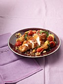 Tuscan chicken with potatoes and tomatoes (Italy)