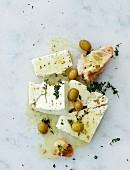 Greek style marinated feta cheese