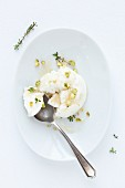 Ricotta with thyme and pistachio nuts