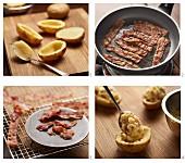 Gefüllte Ofenkartoffeln zubereiten