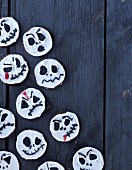 Ghost cookies with chocolate for Hallowen