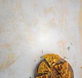Potato tortilla with rosemary