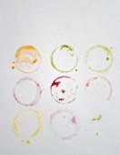Symbolbild Glasränder bunte Smoothies
