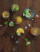 Canelazo (Kalter Orangenpunsch mit Rum und Eis, Kolumbien)