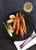 Langoustines with fennel and potatoes