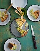 Vegetarische Käsequiche mit Lauch