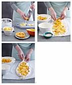 Hokkaido pide with potatoes being made