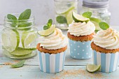 Mojito cupcakes with cream cheese frosting