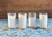 Veganer Milchersatz mit Zutaten