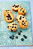 Oat muffins with apples and blueberries