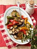 Antipasto misto di verdure (Italian vegetable appetiser)