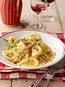 Spaghetti aglio e olio (pasta with olive oil and garlic, Italy)