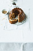 Bundt cake with Baileys and chocolate glaze