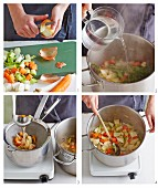 Vegetables stock being made